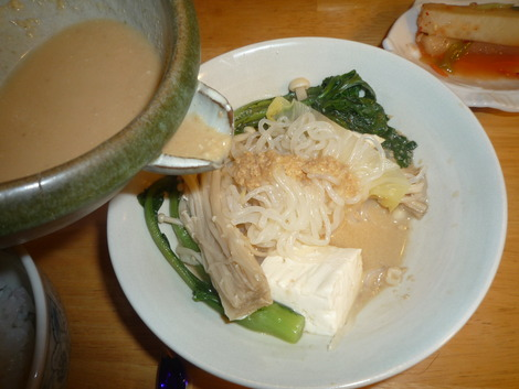 Nabe_goma miso with shirataki