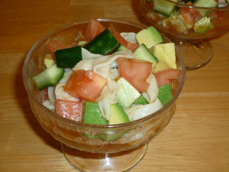 shirataki salad_served