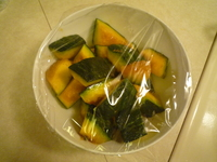 Kabocha into the microwave