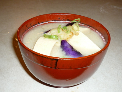 Yuba Miso soup-Served