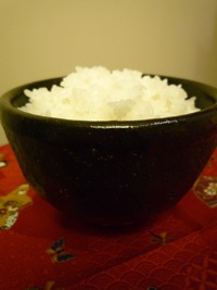 Bowl of Rice served