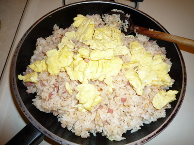 Pancetta Fried rice-add eggs