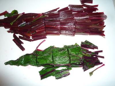 Beet leaves-chopped