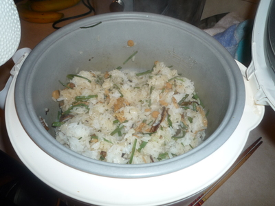 Sansai gohan-mix in rice cooker