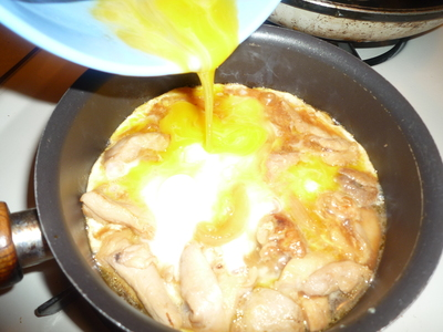Oyakodon-add egg