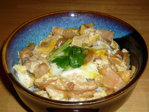 Oyakodon-over rice