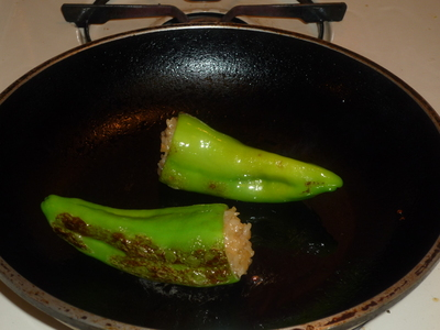 Stuffed pepper-grill or pan fry