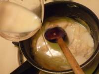 Bechamel-Add in the soy milk