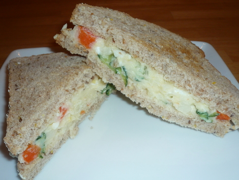 Potato salad-sandwiches
