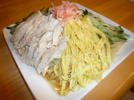 Hiyashi Chuka_Pour the sauce on top