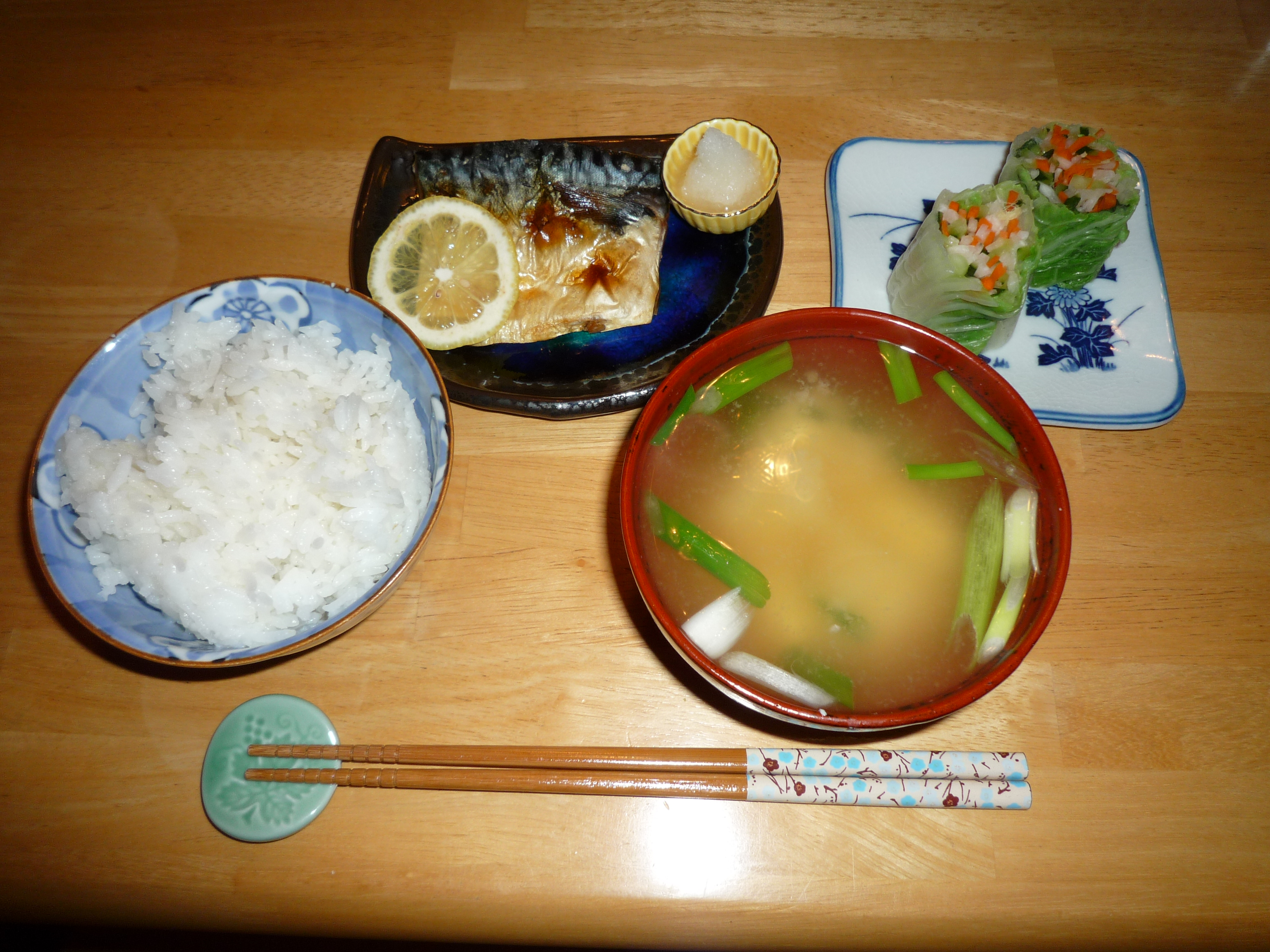 Image result for Saba no shioyaki soup