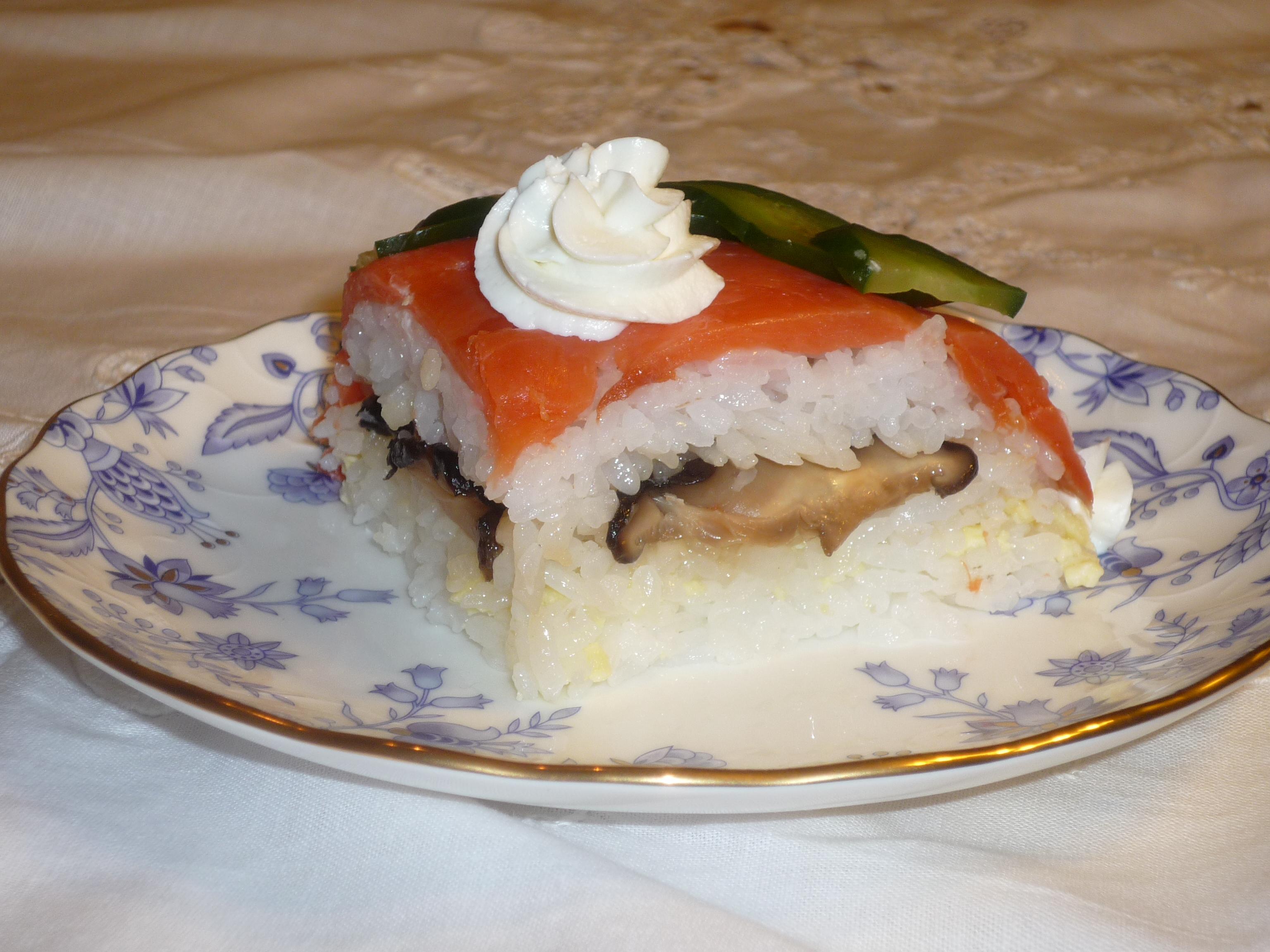 Sushi cake_sliced